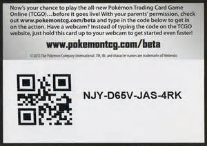 special code cards in black white boosters activate full tcg online program