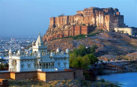 Wallpaper Of Mehrangarh Fort by Wallpaper The City River Castle Mountain India