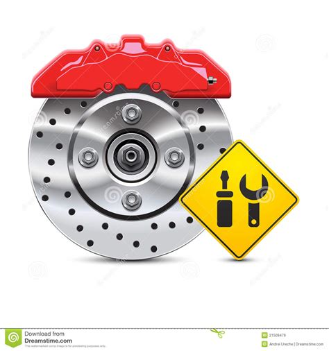 brake and l inspection car brake disc service icon stock vector image 21509479