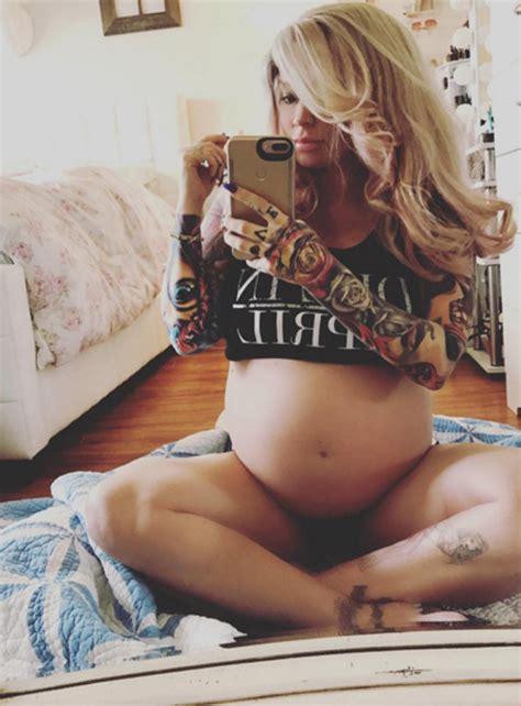 ex cbb star jenna jameson reveals 27 weeks pregnant body