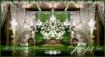 Simple Mehndi Stage Decoration by Green Reception Stage Decoration Theme Planner In Pakistan