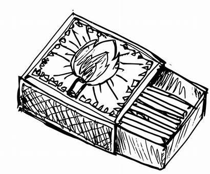 Matches Match Matchbox Clipart Clip Fire Sketch