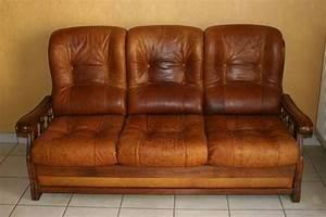 fauteuils occasion en isere 38 annonces achat et vente With canapé cuir et bois 3 places