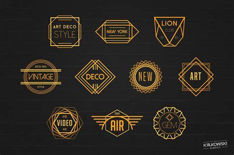 deco logo design deco badges logos logo templates creative market
