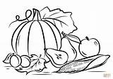 Coloring Harvest Autumn Printable Drawing Paper Crafts sketch template