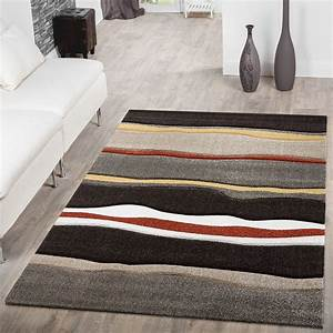 Teppich Rund Braun Beige : moderner teppich wohnzimmer streifen optik meliert braun beige rot sale sales ~ Bigdaddyawards.com Haus und Dekorationen