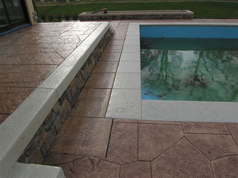 fixing slippery stamped concrete  pools concrete decor