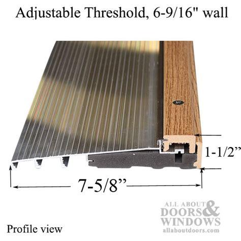 therma tru adjustable threshold adjustable thresholds