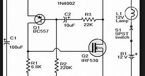 Wiring Schematic Diagram  Irf530 Fet Flasher Circuit