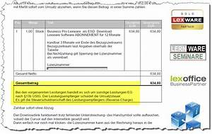 Umsatzsteuer Rechnung Ausland Lieferung Inland : lexware faktura und warenwirtschaft steuerfreie auftr ge innerhalb europas an firmenkunden ~ Themetempest.com Abrechnung