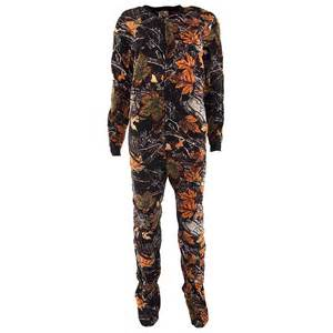 autumn forest footed pajamas for boys