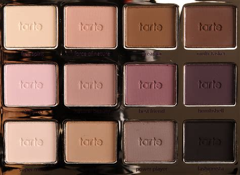 tarte tartelette amazonian clay matte palette review  swatches