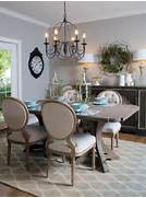French Country Dining Room The Dining Room Is Illuminated With A Dark Industrial Style Dining Room Decorating Ideas Purehome Pure Dining Room After Tags Dining Rooms French Country Style Living Spaces Bloombety Dining Table Centerpiece With Candles Hanged Dining Table