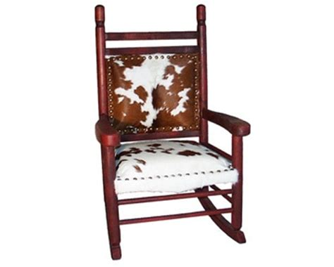 Cowhide Rocking Chair - 17 best images about cowhide furniture on