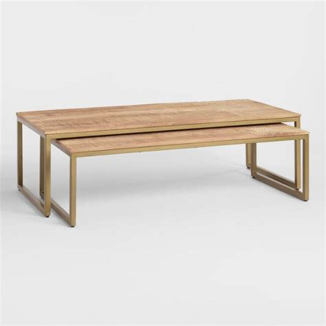 Nesting tables really are a wonderful strategy to increase the seating with the ingeniously designed benches tucked under the main table unnoticed until needed. Lara Mango Wood Nesting Coffee Tables