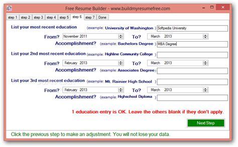 resume building tool free free resume builder
