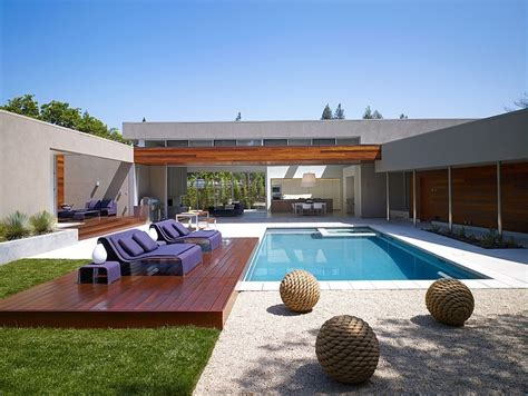 modern house plans with swimming pool modern u shaped residence built around a central leisure courtyard freshome