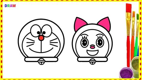 doraemon  doremi face  drawings  coloring pages