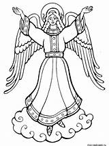 Coloring Pages Angel Angels Printable Recommended Kerra sketch template