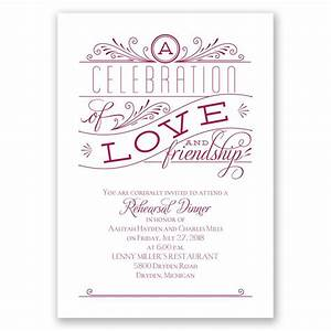 love and friendship rehearsal dinner invitation With examples of wedding rehearsal dinner invitations