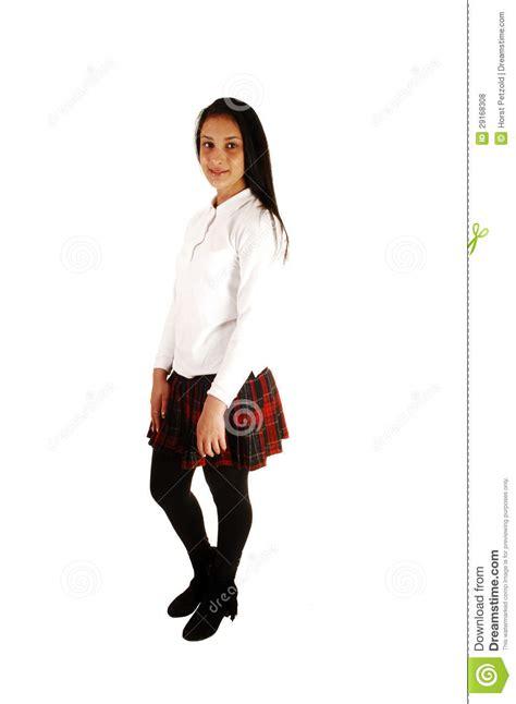 Teen Girl In School Uniform Royalty Free Stock Photos Image