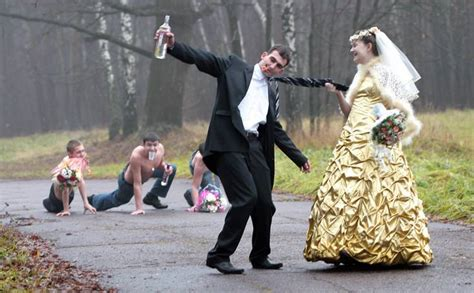 Funny Russian Wedding Photos