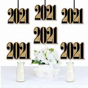 Gold New Year's Eve - 2021 Decorations DIY Party Essentials - Set of 20 - Walmart.com - Walmart.com