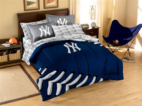 7pc new york yankees full bedding set mlb ny baseball comforter sheets decor ebay