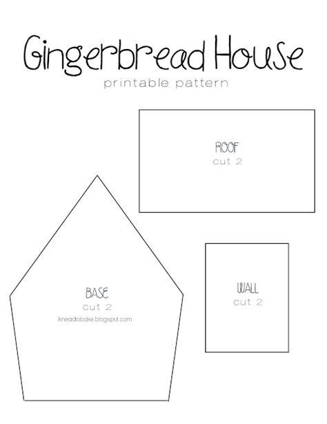 Gingerbread House Template I Knead To Bake Gingerbread Recipe Printable House Template