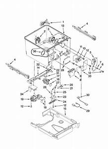 Tub Parts Diagram  U0026 Parts List For Model 46513343600 Kenmore