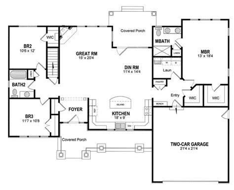 open ranch floor plans with basement inspiration best 25 ranch floor plans ideas on