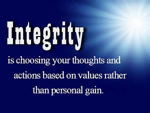 On Personal Integrity Quotes. QuotesGram