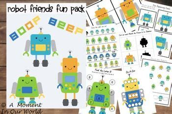 robot friends fun pack  images creative learning