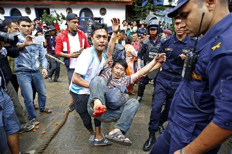 Two Injured After Indrajatra's Lingo Topples The