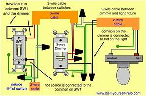 2 Way Dimmer Switch Wiring Diagram