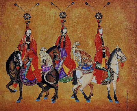 painting  mongolian artist zaya zayasaikhan sambuu