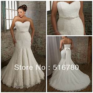 fast delivery high quality straplss mermaid lace plus size With plus size lace mermaid wedding dresses