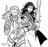 Coloring Hobbit Legolas Kili Fili Sketch Dwarves Mia Deviantart Template Fan Sketches sketch template