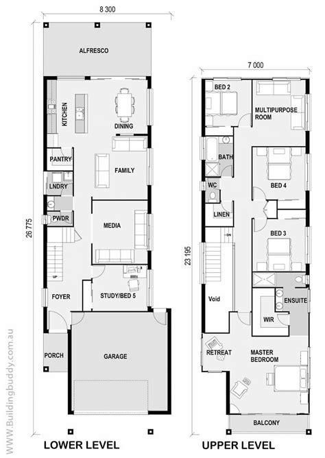 Narrow Home Plans by 1000 Ideas About Narrow House Plans On Duplex