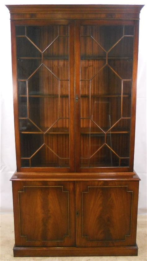 Georgian Style Mahogany Library Bookcase   SOLD