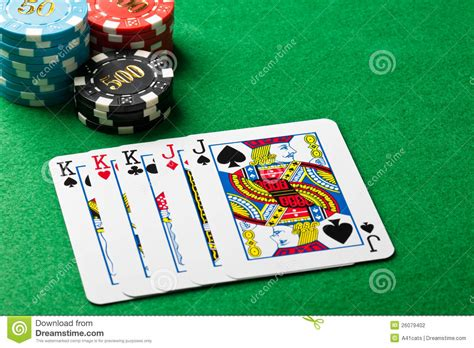 Full House Poker Game Stock Photo Image Play Coin