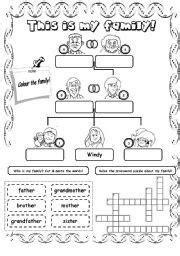 family worksheet family worksheet  family