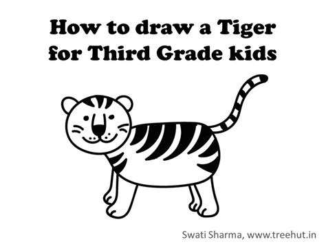 draw  tiger video instructions  grade  kids