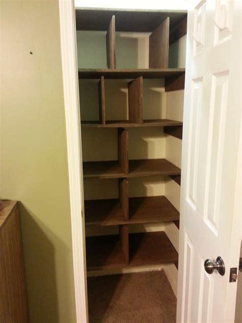 ana white linen closet shelves diy projects