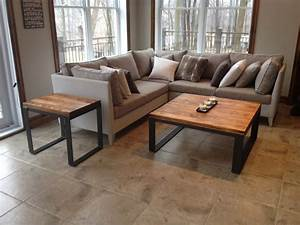 Pouf En Bois : table de salon bois m tal table basse table caf bois m tal ~ Teatrodelosmanantiales.com Idées de Décoration