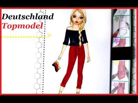 topmodel malbuch   draw deutschland maedchen em
