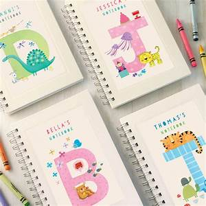 personalised kids alphabet notebook choose any letter by With letter notebook