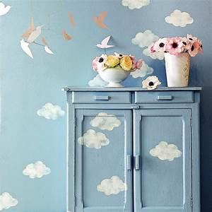 Faire Un Pochoir : d corer les meubles avec des pochoirs nuage marie claire ~ Premium-room.com Idées de Décoration