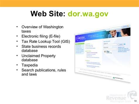 washington state tax workshop sales use dor