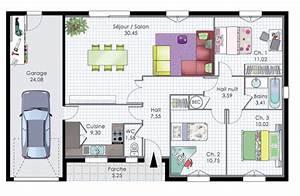pavillon de plain pied detail du plan de pavillon de With meuble pour entree de maison 9 maison contemporaine 12 detail du plan de maison